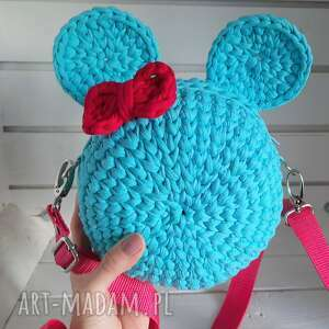 dla dziecka szydełkowa torebka myszka, torebka, szydełkowa, dziecięca