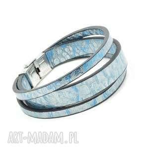 bransoletki bransoletka wykonana z naturalnej włoskiej skóry koziej w kolorze