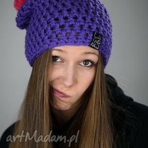 HelLove 41, czapka, czapa, pompon, zima, kolorowa, akryl