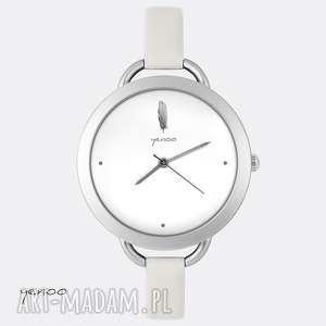 zegarki zegarek, bransoletka - piórko, skórzany, grafika, elegancki