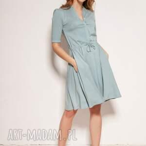 sukienki sukienka z rozkloszowanym dołem - suk195 mięta