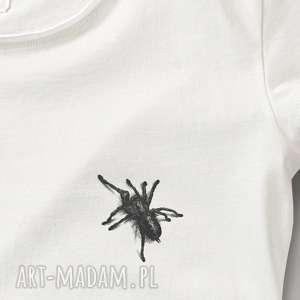 bluzki mini pająk tshirt damski z nadrukiem, koszulka, spider, dopasowana, fit