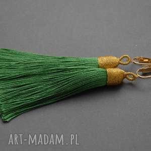 kolczyki z chwostami, sznurek, długie, wiszące, eleganckie