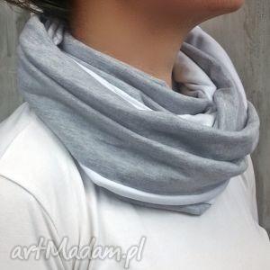 bukiet-pasji komin damski bawełniany, szalik, zima