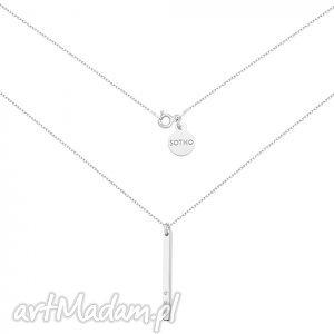 handmade naszyjniki srebrny naszyjnik z blaszką i kryształkami swarovski® crystal