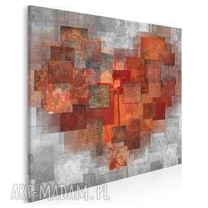 obraz na płótnie - serce abstrakcja w kwadracie 80x80 cm (43102)