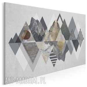 obraz na płótnie - góry trójkąty wzory 120x80 cm (72101)