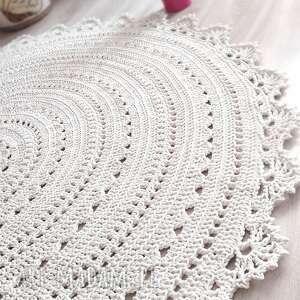 dywan mandala lace 120 cm, mandala, ażurowy, dekoracyjny, delikatny