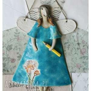 anioł dla przedszkolanki - podziękowanie na zakończenie roku szkolnego, ceramika