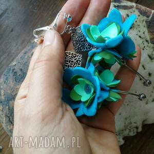 hand-made klipsy lekkie kwiatowe boho kolorowe folk