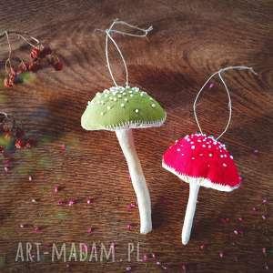 handmade pomysł na święta prezent muchomorki