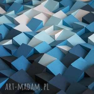 hand made dekoracje obraz drewniany 3d mozaika drewniana w głębi