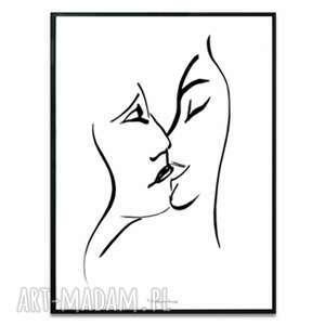 renata bulkszas grafika w ramie pocałunek 8 30x40 cm, miłość, pocałunki