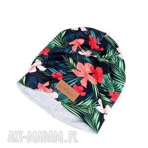 czapka w palemki, czapka, kolorowa, dzianina, unisex, prezent