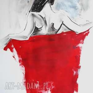 red!, duży-obraz, kobieta-obraz, czerwony-obraz, czerwona-dekoracja, zmysłowy-obraz