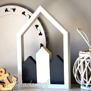 dekoracje domki drewniane w stylu skandynawskim, domki, drewniane, domek