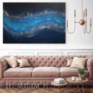 abstrakcyjny obraz ręcznie malowany - connected 60x90