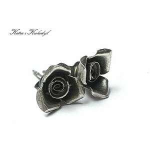 Różyczki - sztyfy katia i krokodyl srebro, oksydowane, kwiaty,