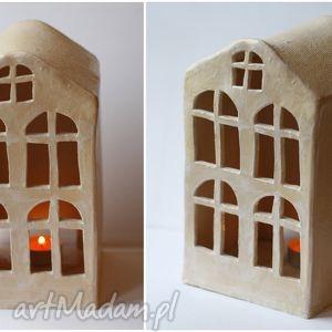 domek lampion ii, domek, lampion, ceramika, vintage, ażurowy