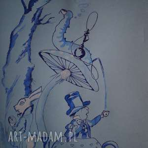 handmade obrazy co było w tej herbacie? ręczna ilustracja alicji w krainie czarów