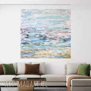 byferens obraz akrylowy na płótnie 90x90, abstrakcyjny, pastelowy