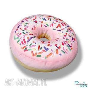 Poduszka pączek różowy Donut XXL duży, poduszki, donut, poduszka