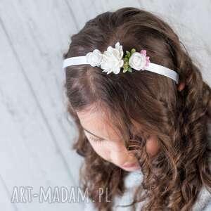 ozdoby do włosów opaska dziewczęca na komunie, śluby i inne okazje