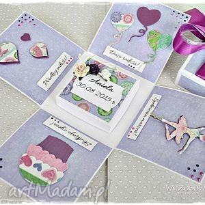 pamiątka chrztu - box dla małej księżniczki - exploding, box, kartka