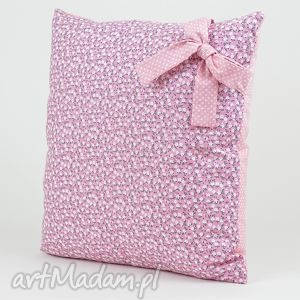 poduszka dekoracyjna 40x40 - na wrzosową nutę, poduszki, poszewka, prezent, dekoracja