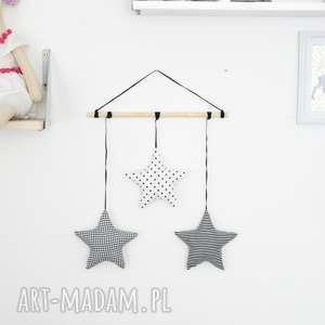 dekoracja wisząca - gwiazdki, wiszące, dekoracja, girlanda, czarno-białe