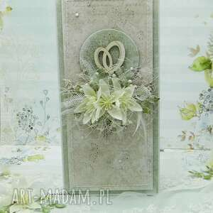 kartka ślubna z obrączkami w pudełku, ślub, ślubna, na ślub