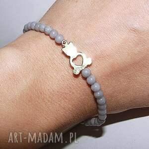 bransoletki miś serce w malutkich kamieniach, mini, serce, miś, celebrytka, kamienie