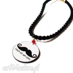 handmade naszyjniki moustache 2w1 naszyjnik/bransoletka