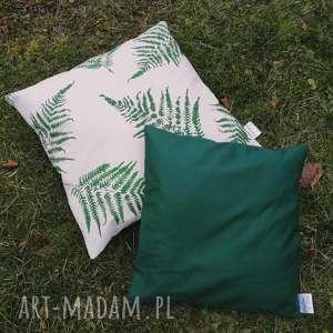 poszewka butelkowa zieleń 40x40 - ,dekoracyjna,poduszka,poszewka,40x40,las,leśna,