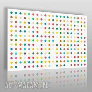 obrazy obraz na płótnie - minimalizm kolorowe kropki 120x80 cm 11302