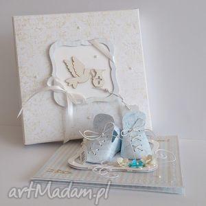Stojąca kartka z okazji chrztu , kartka, chrzest, pudełko, komplet, upominek