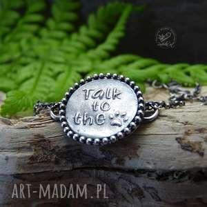 Talk to the paw - bracelet radecka art srebrna bransoletka