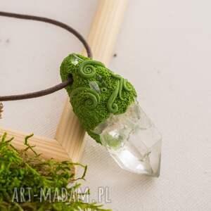 Wisior z kryształem górskim Lyf, wisior, wisiorek, kryształ, kwarc, natura, elficki