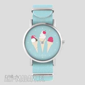 Zegarek, bransoletka - lody niebieski, nato zegarki liliarts