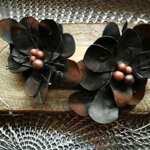 kolczyki kwiaty etno maki lekkie, kolczyki, duże, wiszące, maki, boho