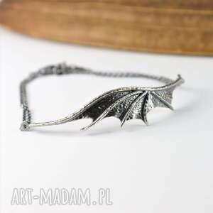 bellamente surowa bransoletka ze srebra smocze skrzydło