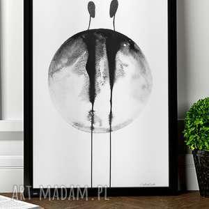 abstrakcja minimalizm, obraz malowany, grafika 30x40 plakat A3, minimalizm