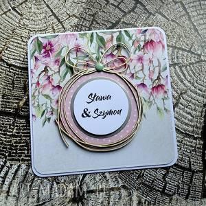 Wiosenne girlandy scrapbooking kartki cynamonowe ślub, urodziny