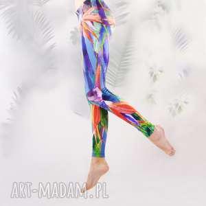 legginsy rajski ptak, legginsy, sztuka, kolorowe, akwarele, artystyczne