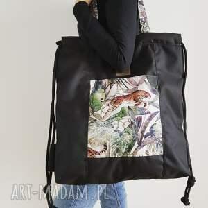 torba/ plecak 2w1 - wild jungle, torba, plecak, worek, 2w1, multifunkcjonalna