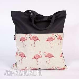 prezent na święta, flamingi, flaming, siatka, torba