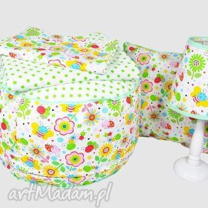 zestaw fairy meadow - puf, poduszka, lampka, zestaw, popielewska, style