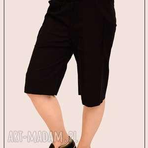 spodnie czarne bawełniane szorty, bermudy, prezent, wygodne, bawełna
