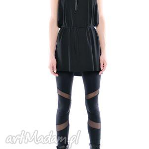 legginsy - futurystyczne mat, czarne, elastyczne, wygodne