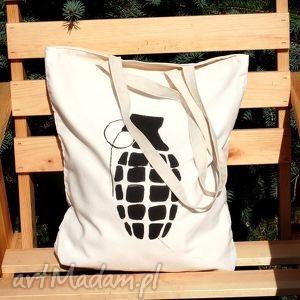 bombowa torba z ręcznie wykonanym rysunkiem, motyw, rysunek, napis, dowolny, eko